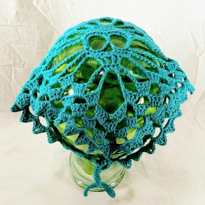 Skull Kerchief in Aqua