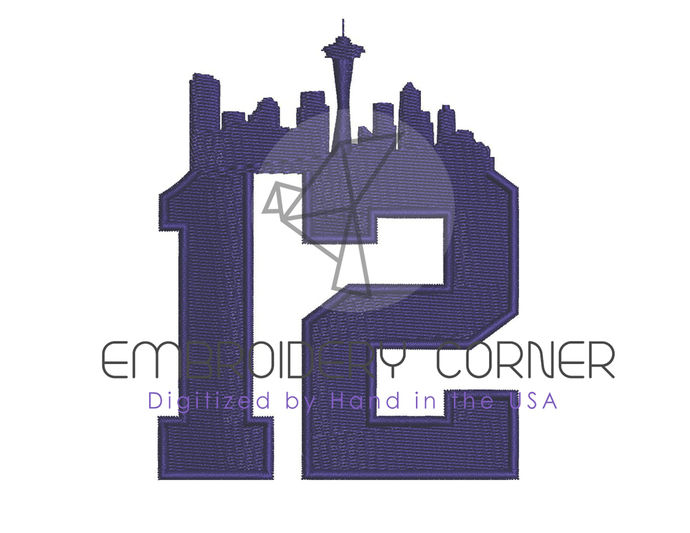 seattle 12th Design for Embroidery Machines 4x4 - instant download