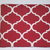 "A white latticework on a deep red background are attractive on our large 15"" x"