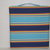 "Alternating stripes of navy, red, yellow, aqua and white are fun on our 15"" x"