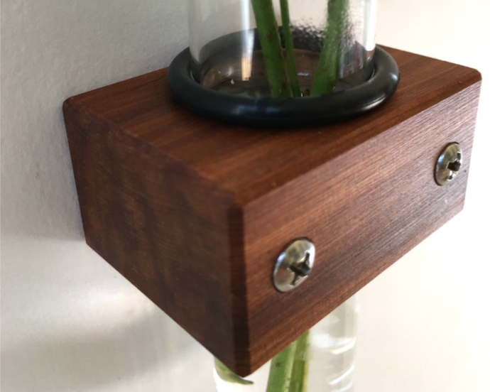 Test Tube Wall Vase, Small Wall Bud Vase