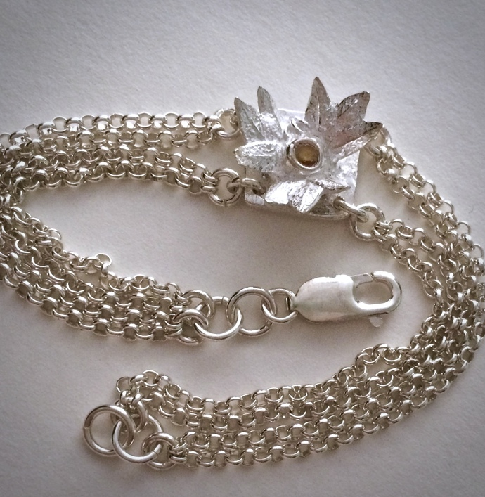 silver bracelet, September birthstone, sapphire jewelry, flower bracelet,