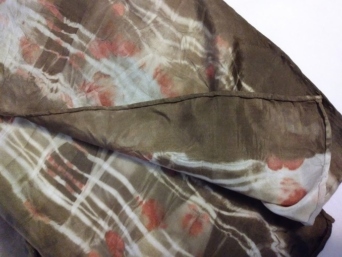 Naturally Dyed Silk Scarf 8 x 72 Hand Dyed with Natural Materials