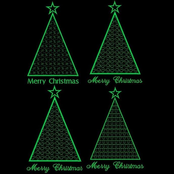 Christmas tree machine embroidery design pack,designs,Tannenbaum stickmuster,
