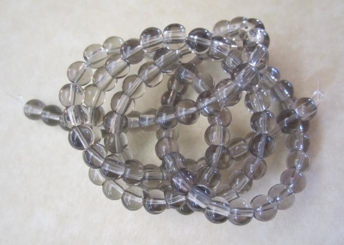 Smoky Glass Beads