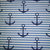 Our nautical print of navy anchors and blue and white stripes looks great on