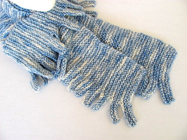 Fat Fun Finger Fringe Scarf FREE US Shipping