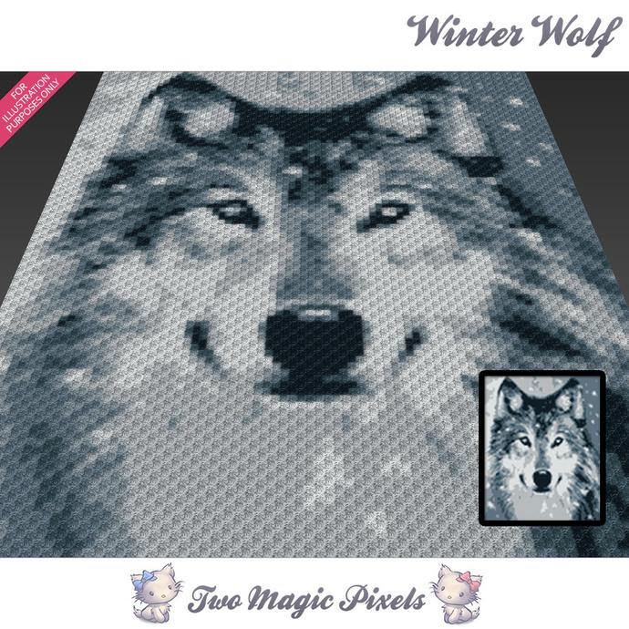 Winter Wolf Crochet Blanket Pattern By Twomagicpixels On Zibbet
