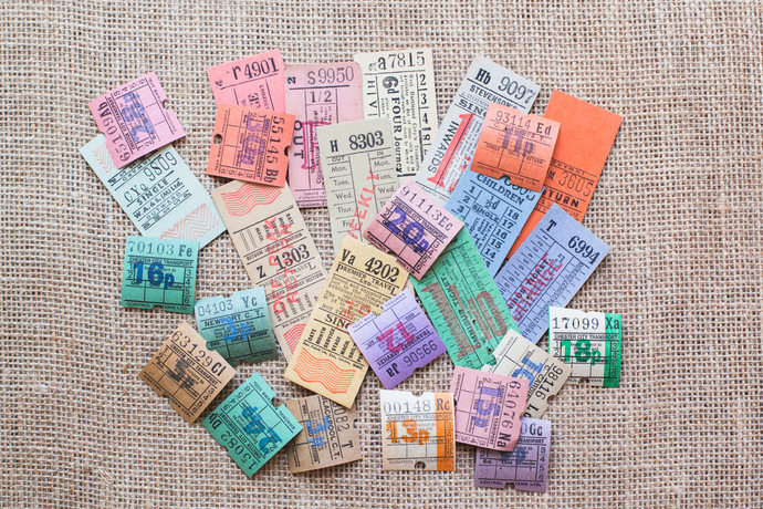 Original vintage English / British bus tickets lot - perfect for Travelers