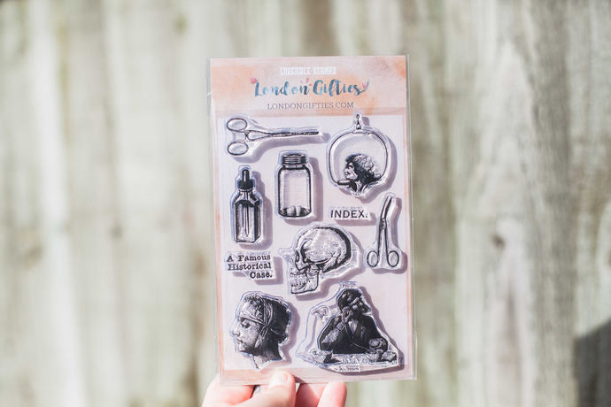 Vintage medical clear stamp set - decorative planner stamps suitable for any