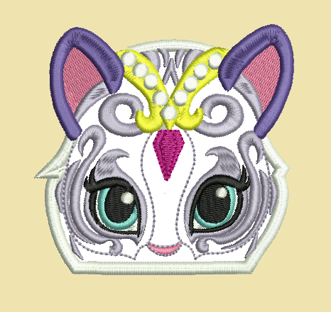 Nahal tiger peeker. In 4x4 5x7 digital embroidery files.