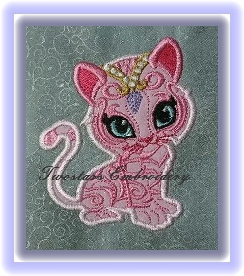 Nahal tiger In 4x4 5x7  and setting on pillow 5x7 .digital embroidery files.