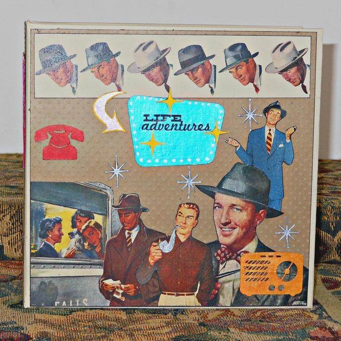 Retro Dapper Man Handmade Photo/Memory Mini-Album