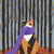 Calico Forest Cat Original Cat Folk Art Acrylic Painting