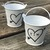 Personalized Rustic Heart Tin Pail Wedding Favors / Set of 10