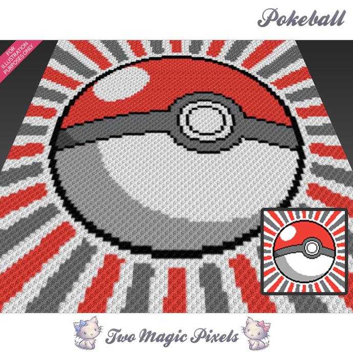 Pokeball Crochet Blanket Pattern C2c Twomagicpixels