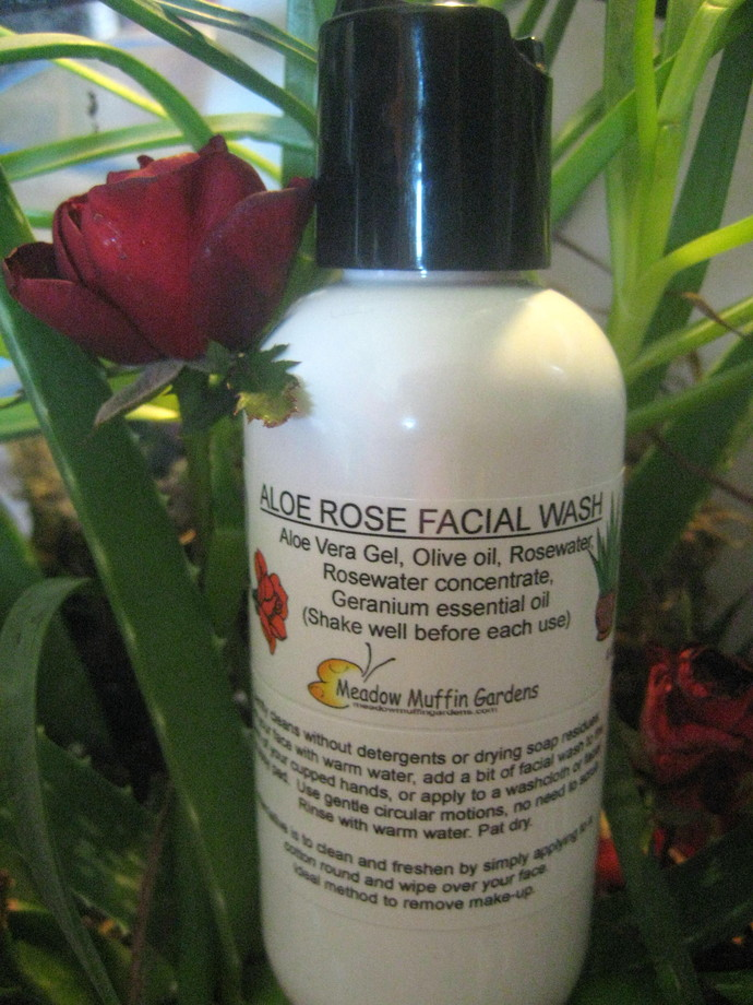 Facial Cleanse, Serum, Soap free Face Wash, Facial Oil, Rosewater, Aloe, Olive