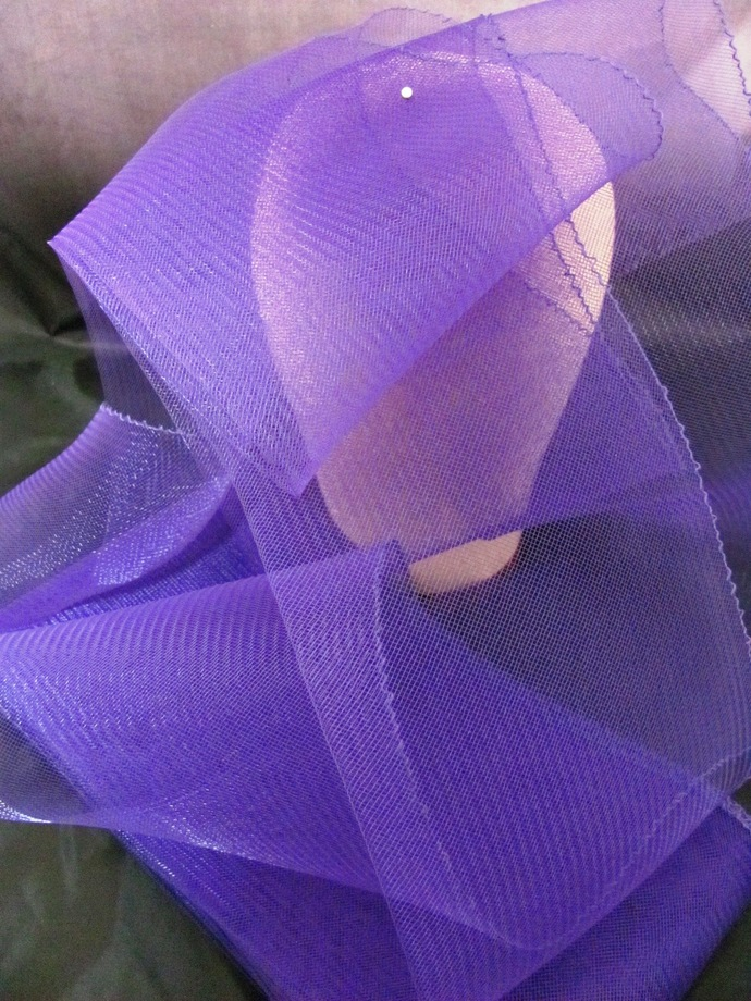 10 Yards Rich Purple Millinery 6 inch Horsehair Crin Ribbon for hat making