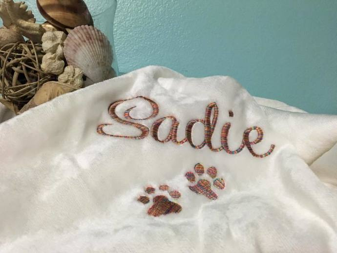 Dog Blanket - Personalized-Paw Prints
