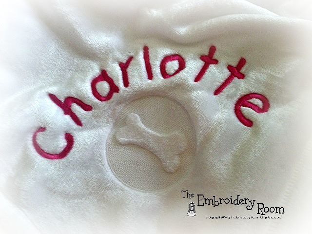 Dog Blanket -  Embossed Bone or Paw Print