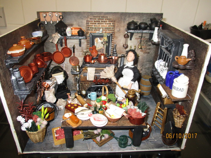 Handmade Miniature Victorian Kitchen - ON SALE NOW!