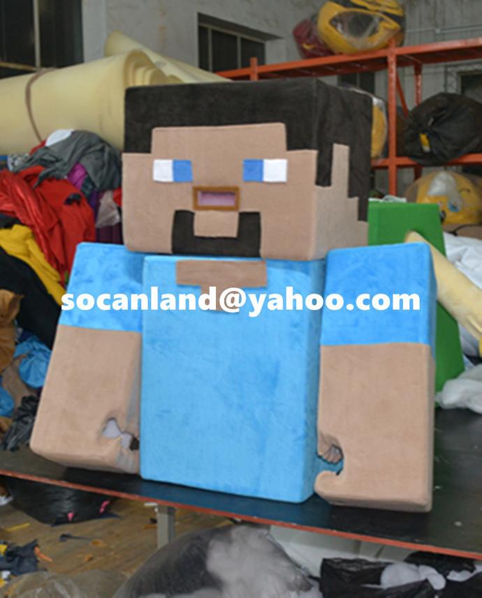 Handmade Kids Minecraft Mascot,Kids by CartoonMascotCostume on Zibbet