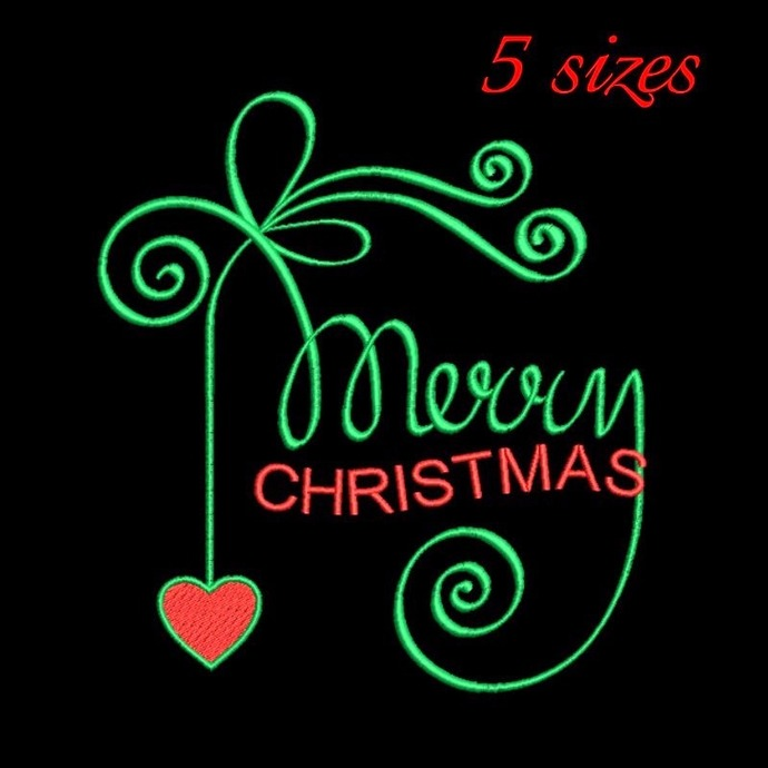 Merry Christmas embroidery design,Happy new year,love