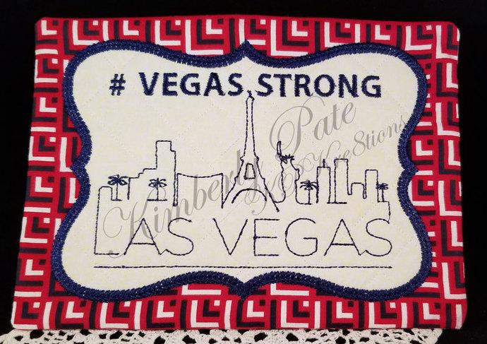 #VegasStrong Mug Rug