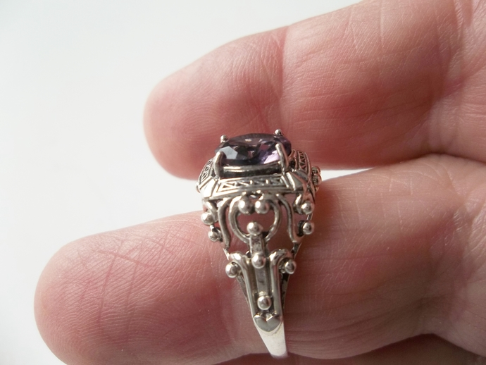 Amethyst Ring, Gift For Wife, Art Deco Style, Gift For Wife, February