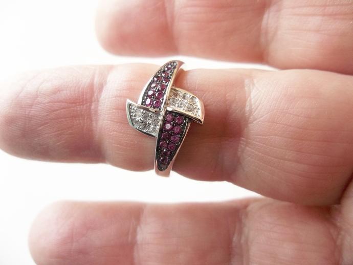Ruby Ring, Proposal Ring, wedding band, genuine Gemstones, size 8, Valentine
