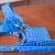 Dog harness + leash + bon-ton bag in light blue cocco Italian leather