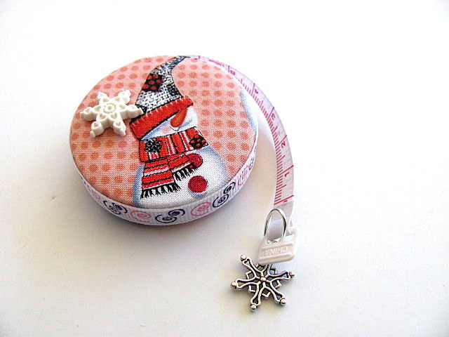 Tape Measure Country Snowmen Retractable Measuring Tape