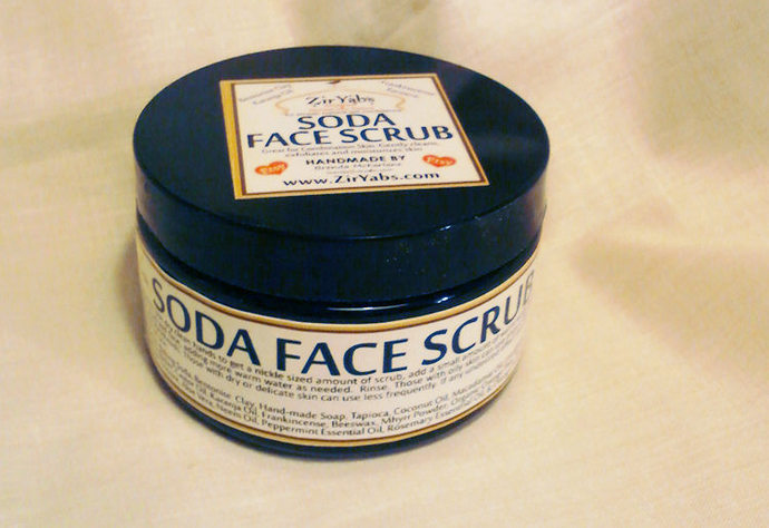 Soda Face Scrub | 2.5 oz | For Acne | Combination Skin | Dry Skin Cleanser |