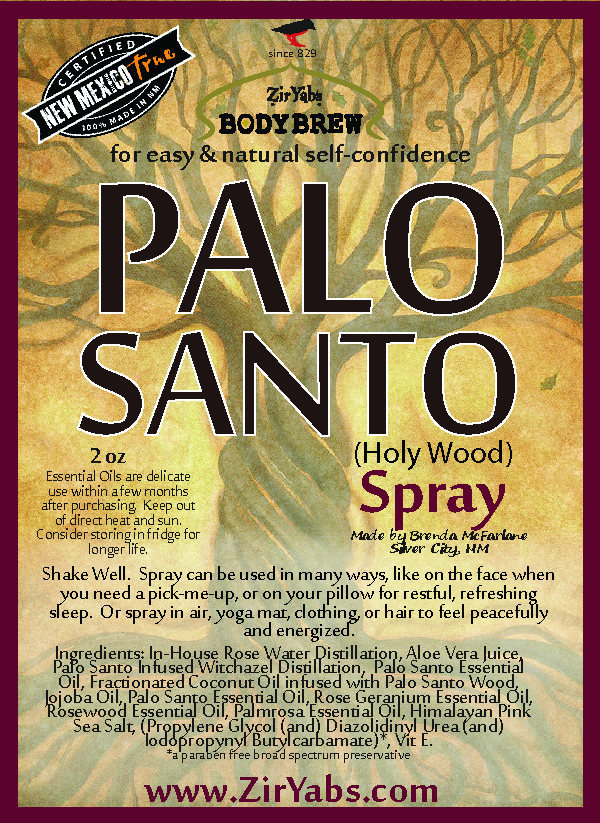 Palo Santo Spray | 2 oz | Holy Wood | Relaxation Spray | Good Energy replaces