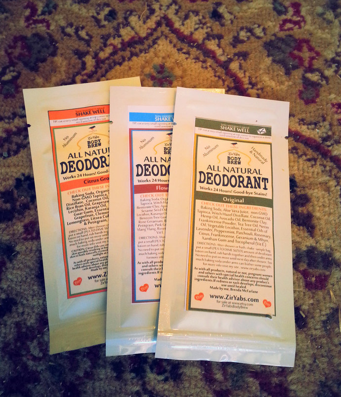 Natural Deodorant Samples | Pack of Three