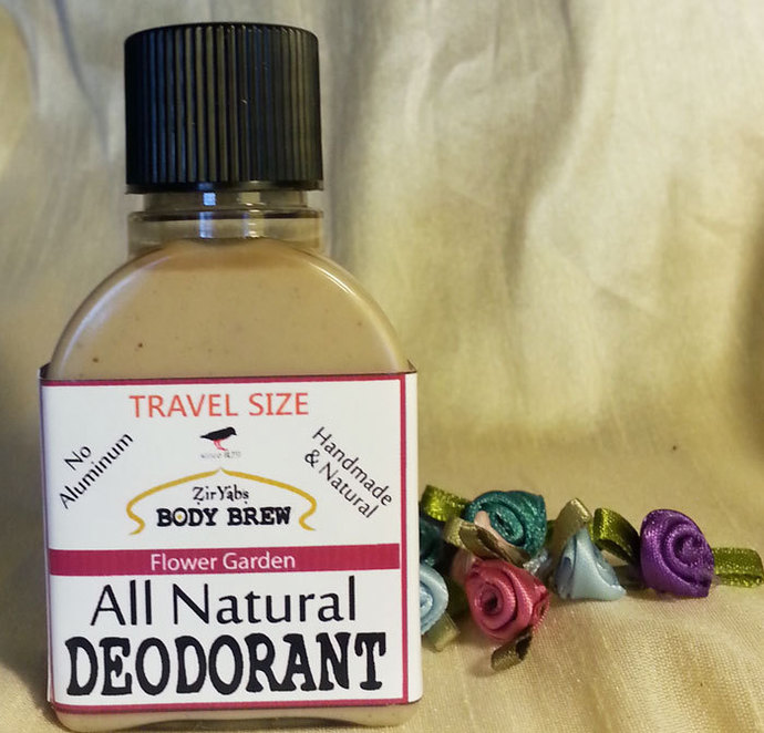 Amazing 24 Hour Natural Deodorant | Flower Garden | 1.75 oz | Travel Size |