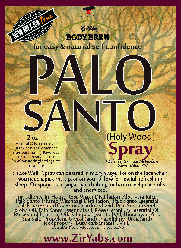 Palo Santo Spray | 4 oz | Holy Wood | Relaxation Spray | Good Energy replaces
