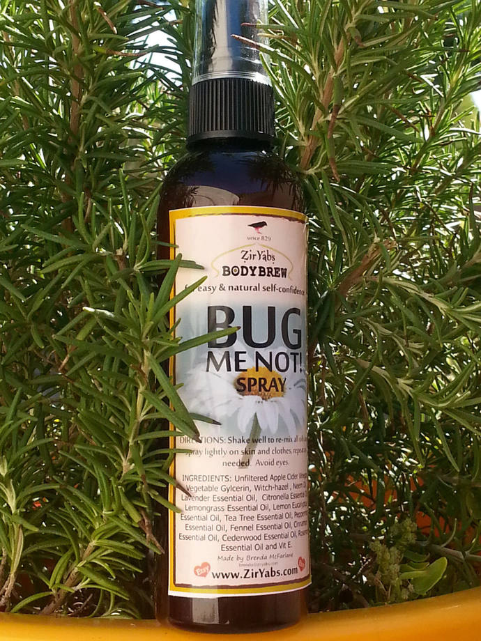 Bug Me Not Spray | 4.5 oz | Lemon Eucalyptus | Neem Bug Repellent | Apple Cider