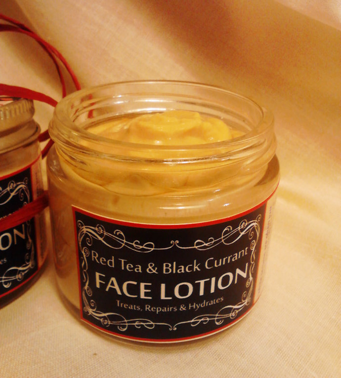 Red Tea and Black Currant Face Lotion | 2 oz | Argan Oil | Jojoba Face Cream |