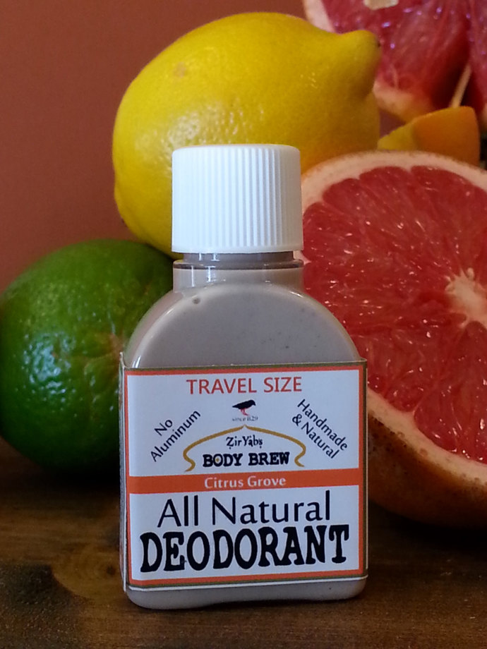 Amazing 24 Hour Natural Deodorant | Citrus | 1.75 oz | Travel Size | Trial Size
