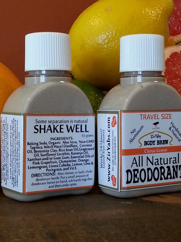 Amazing 24 Hour Natural Deodorant | Citrus | 1.75 oz | Travel Size | Trial Size