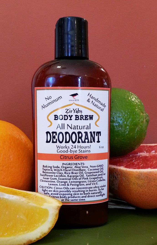 Amazing 24 Hour Natural Deodorant | Citrus | 6 oz | Vegan Natural | Aluminum