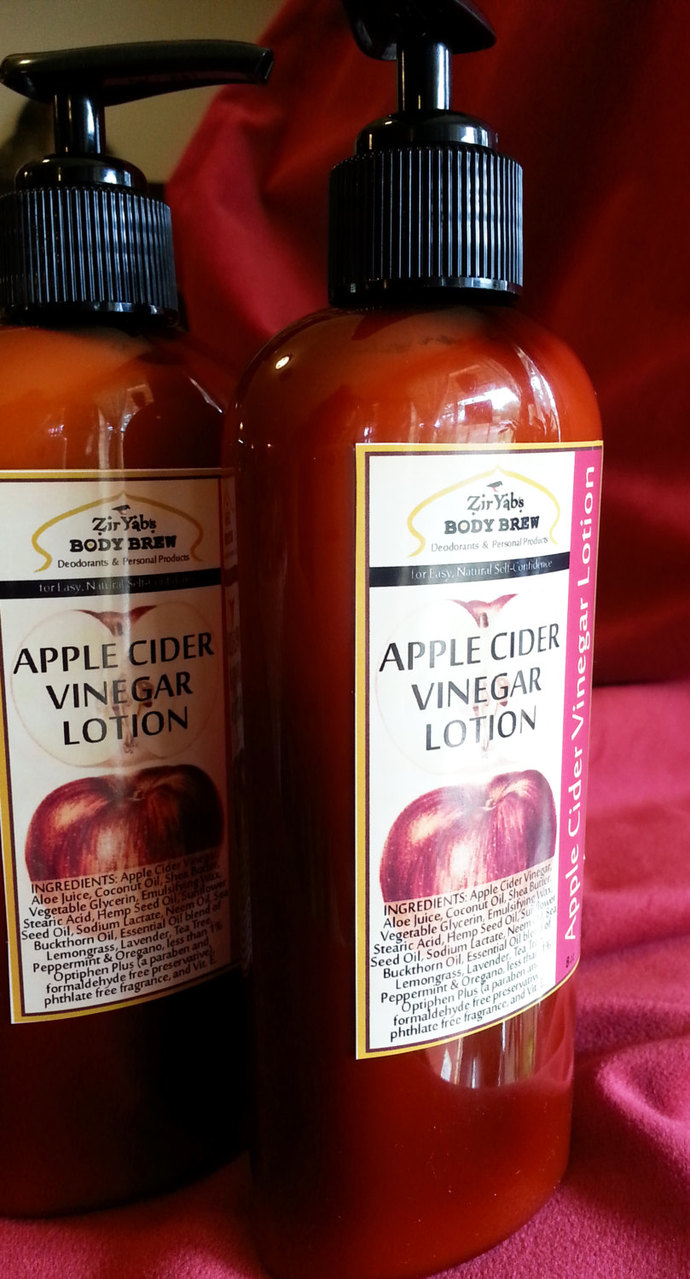 Apple Cider Vinegar Lotion | 8 oz | Half the Chemical Preservatives of Regular