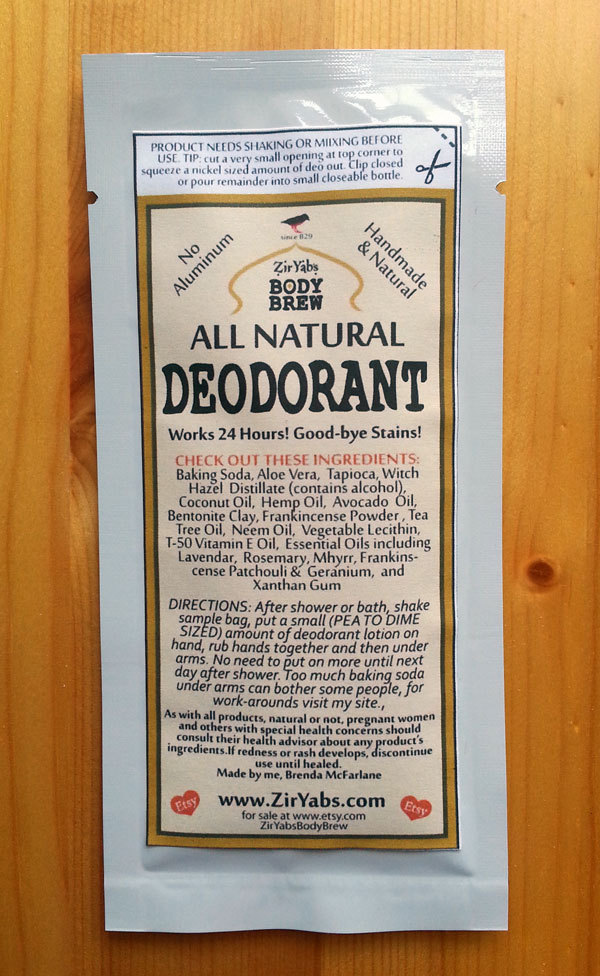 SAMPLE POUCH | Amazing 24 Hour Natural Deodorant | Original
