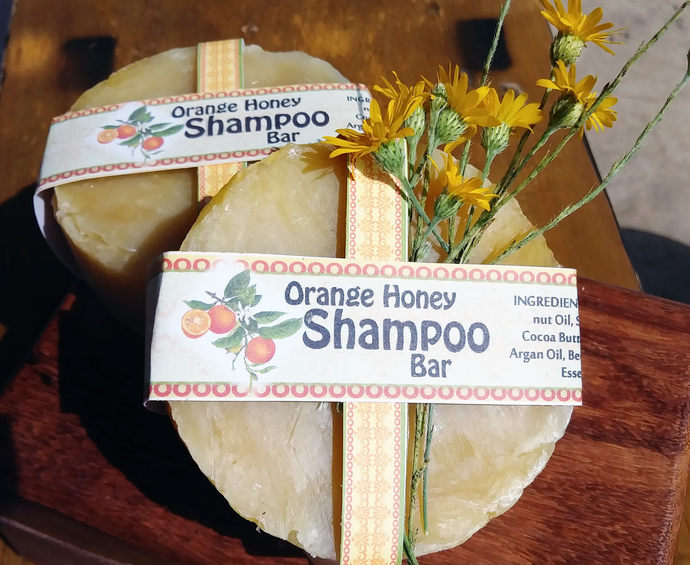 Shampoo Bar   3.75 oz   Orange Honey with Jojoba and Argan