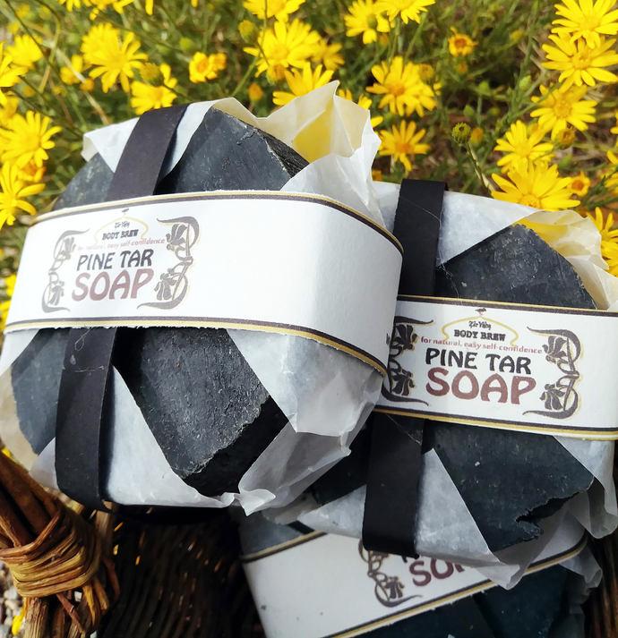 Pine Tar Soap | 3.75 oz | Itchy skin | Flakey Skin | Eczema