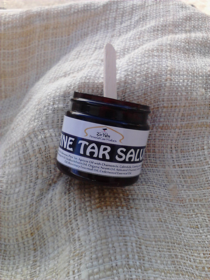 Pine Tar Salve | 2 oz | With Organic Extra Virgin Coconut OIl and Shea Butter |
