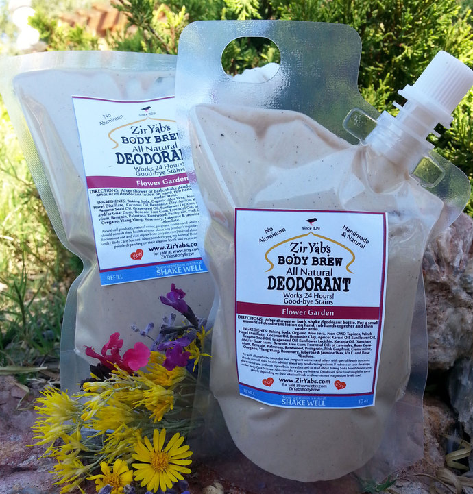 Refill Natural Lotion Deodorant | 16 oz | FLOWER GARDEN | Nozzle Bag