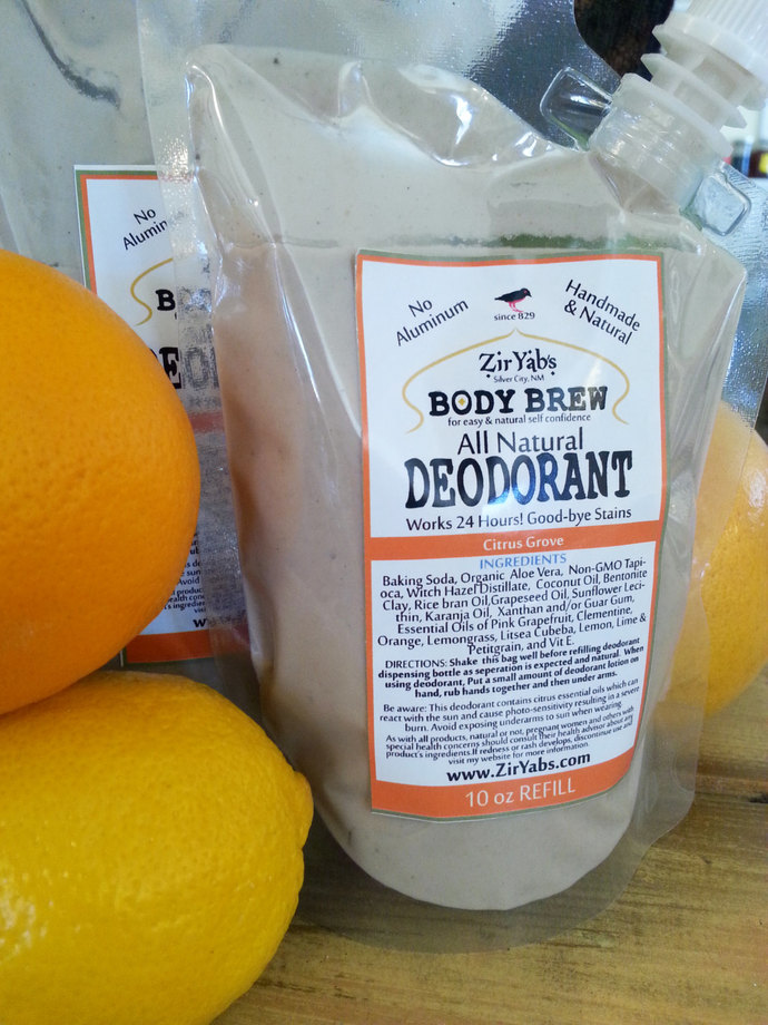 Refill Natural Lotion Deodorant |10 oz | CITRUS | Nozzle Bag