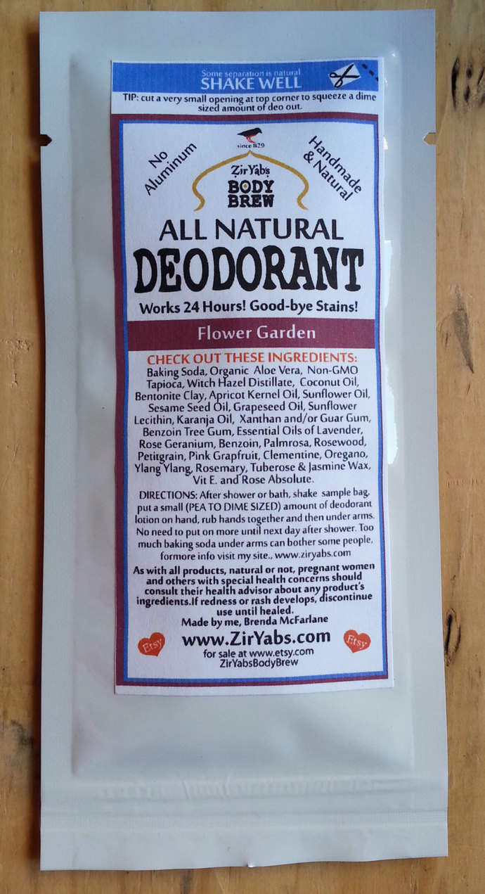 SAMPLE POUCH | Amazing 24 Hour Natural Deodorant | FLOWER